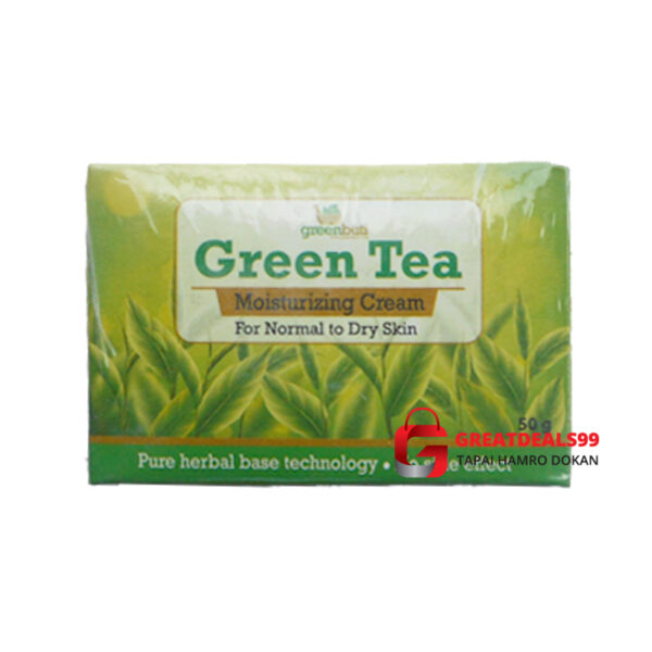 GREENBUTI GREEN TEA MOISURIZING CREAM 50 GM - Greatdeals99 - Online shopping Biratnagar