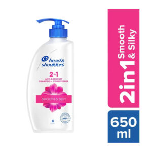 H & S SHAMPOO 2 IN 1 650 ML SMOOTH & SILKY-greatdeals99-Biratnagar